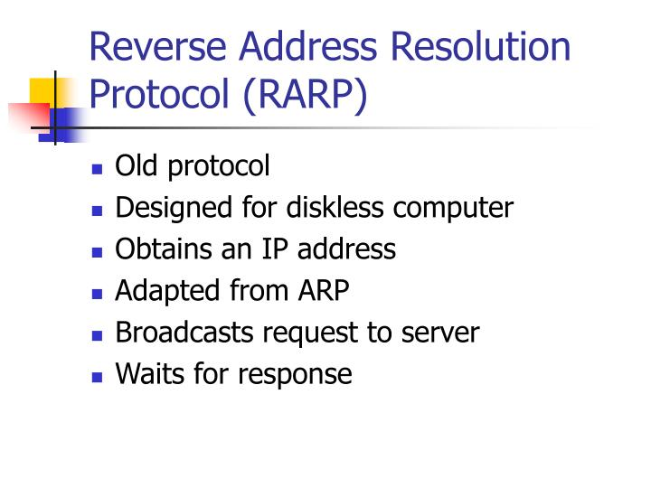 Reverse Address Resolution