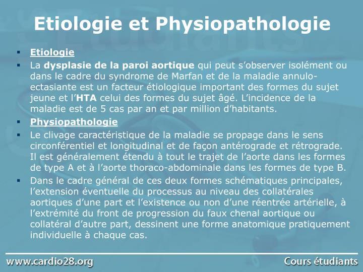 Etiologie et Physiopathologie
