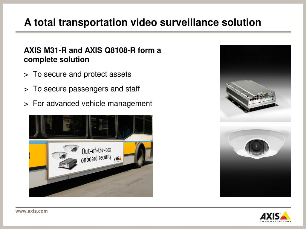 A total transportation video surveillance solution