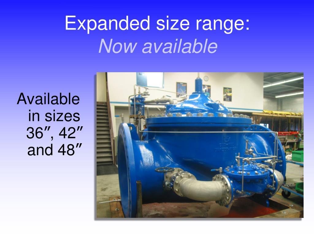 Expanded size range: