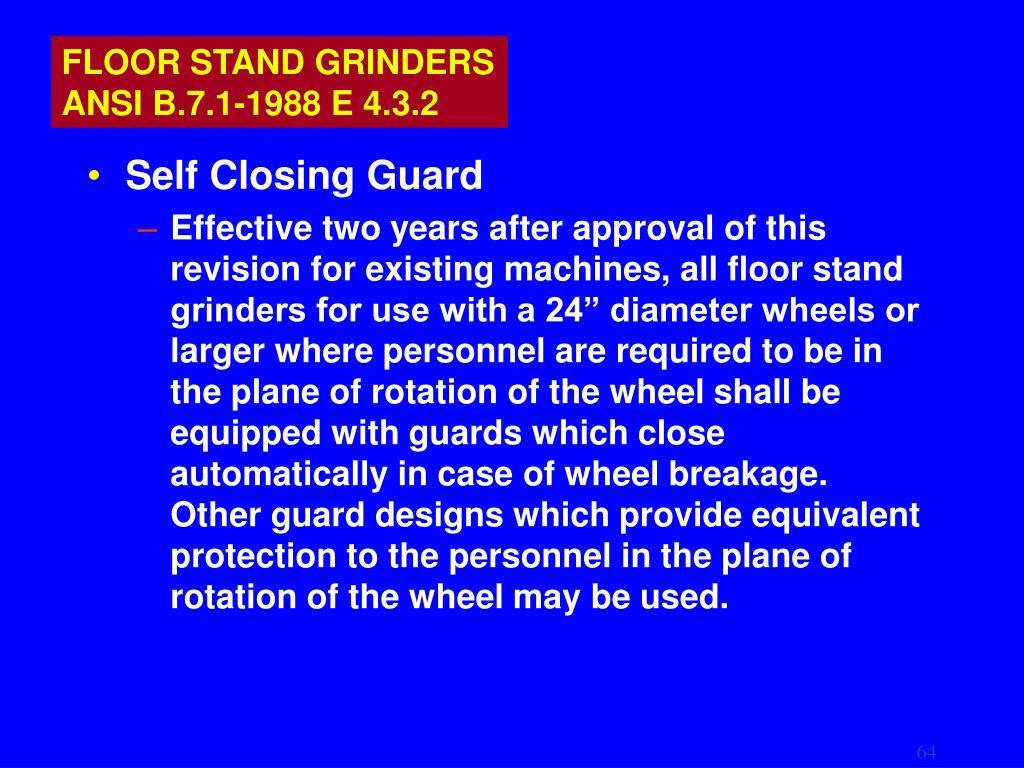 FLOOR STAND GRINDERS