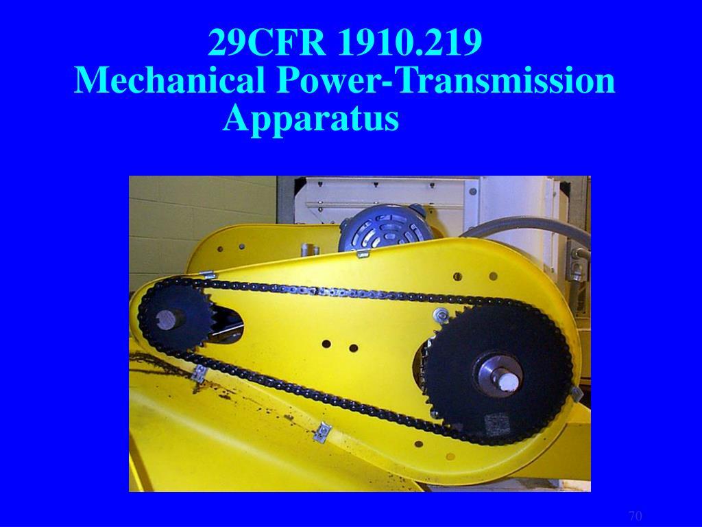 29CFR 1910.219