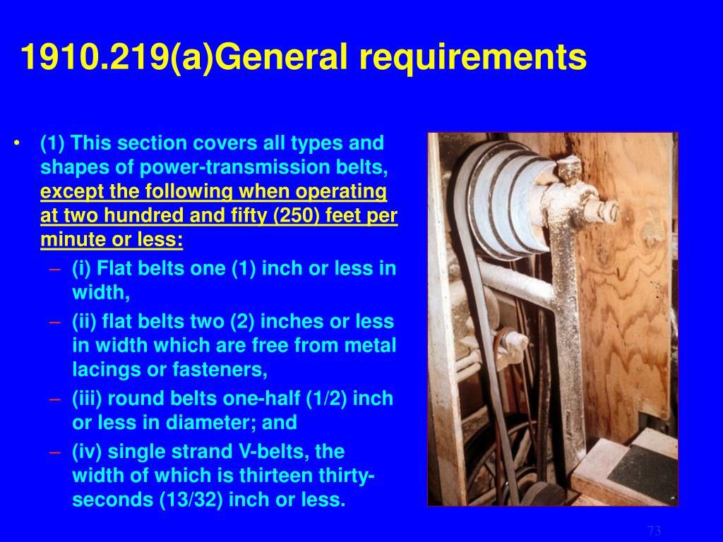 1910.219(a)General requirements