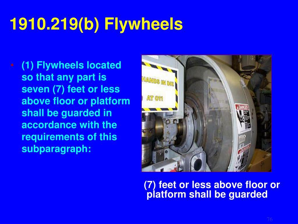 1910.219(b) Flywheels