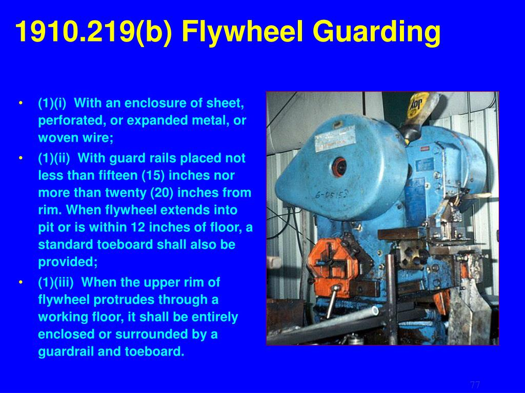 1910.219(b) Flywheel Guarding