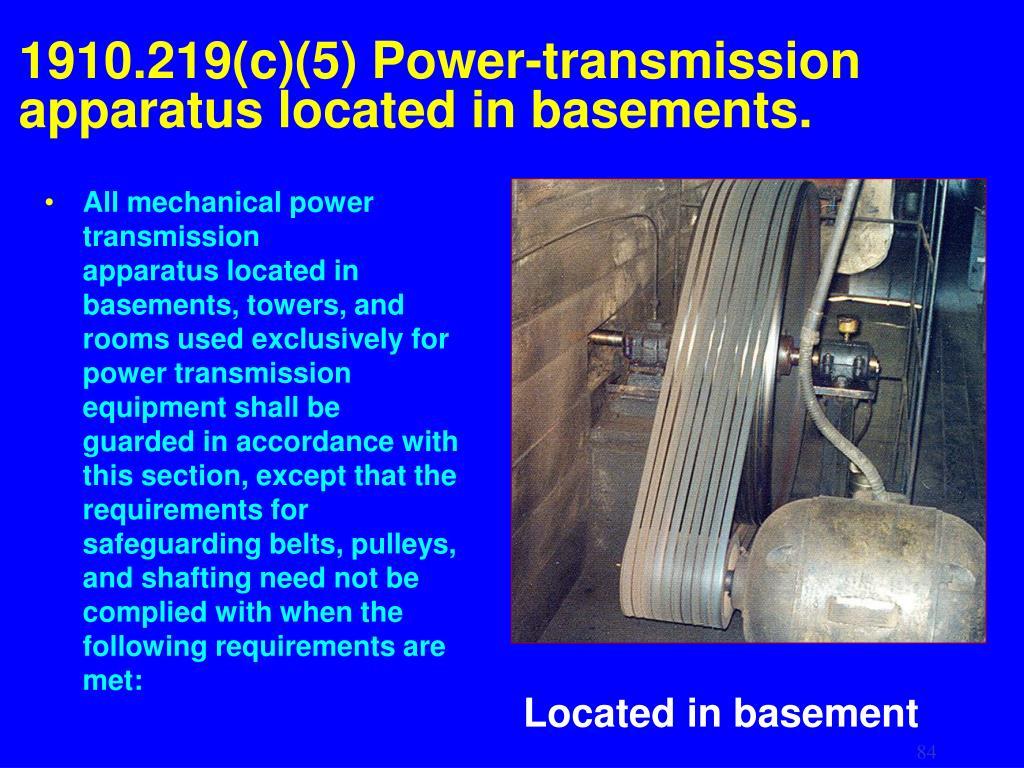 1910.219(c)(5) Power-transmission