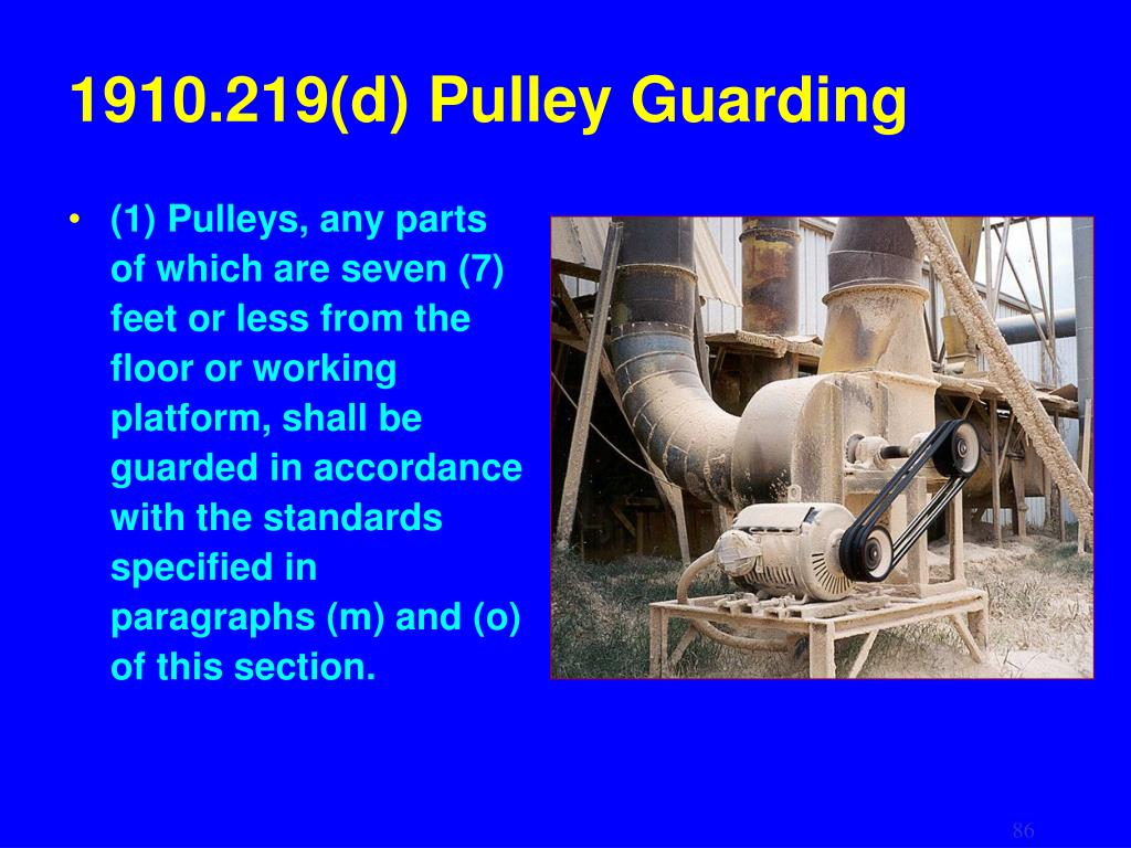 1910.219(d) Pulley Guarding