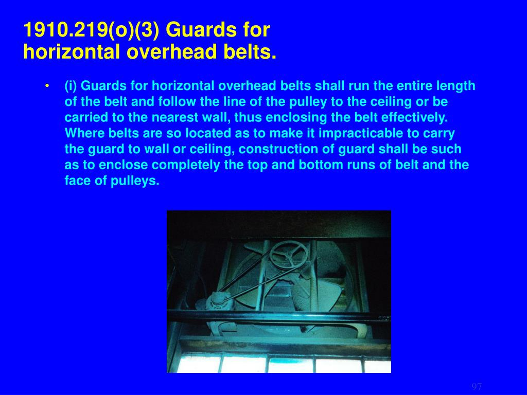 1910.219(o)(3) Guards for