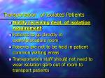 transportation of isolated patients