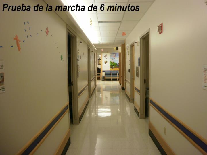 Prueba de la marcha de 6 minutos