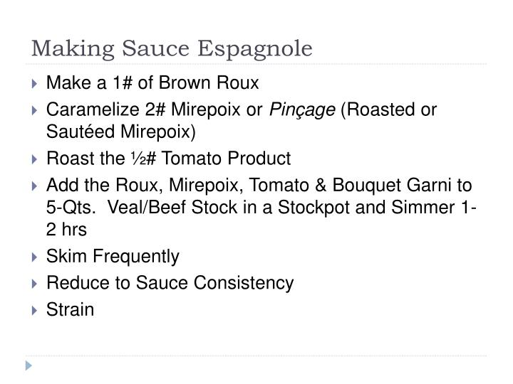 Making sauce espagnole