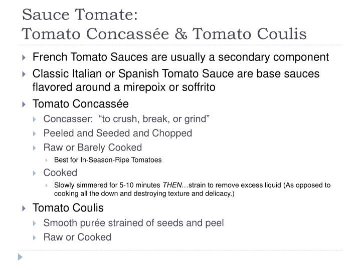 Sauce Tomate: