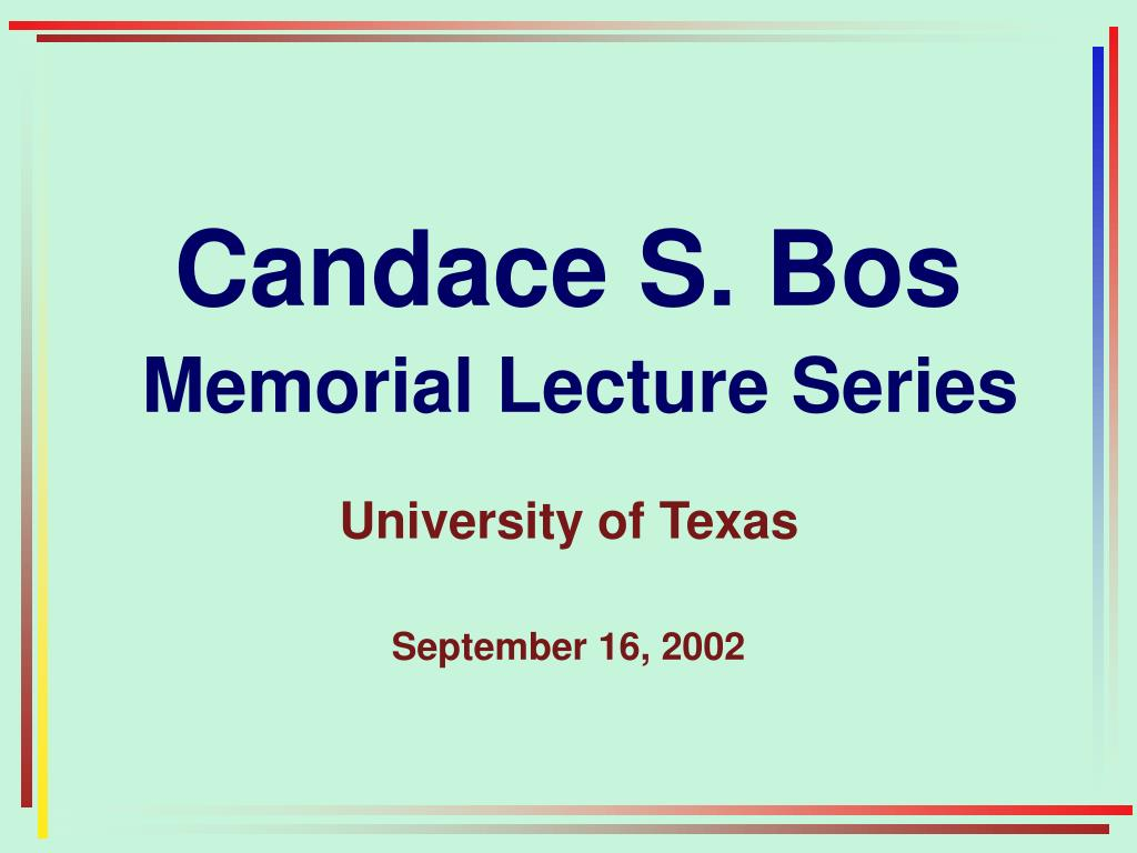 Candace S. Bos