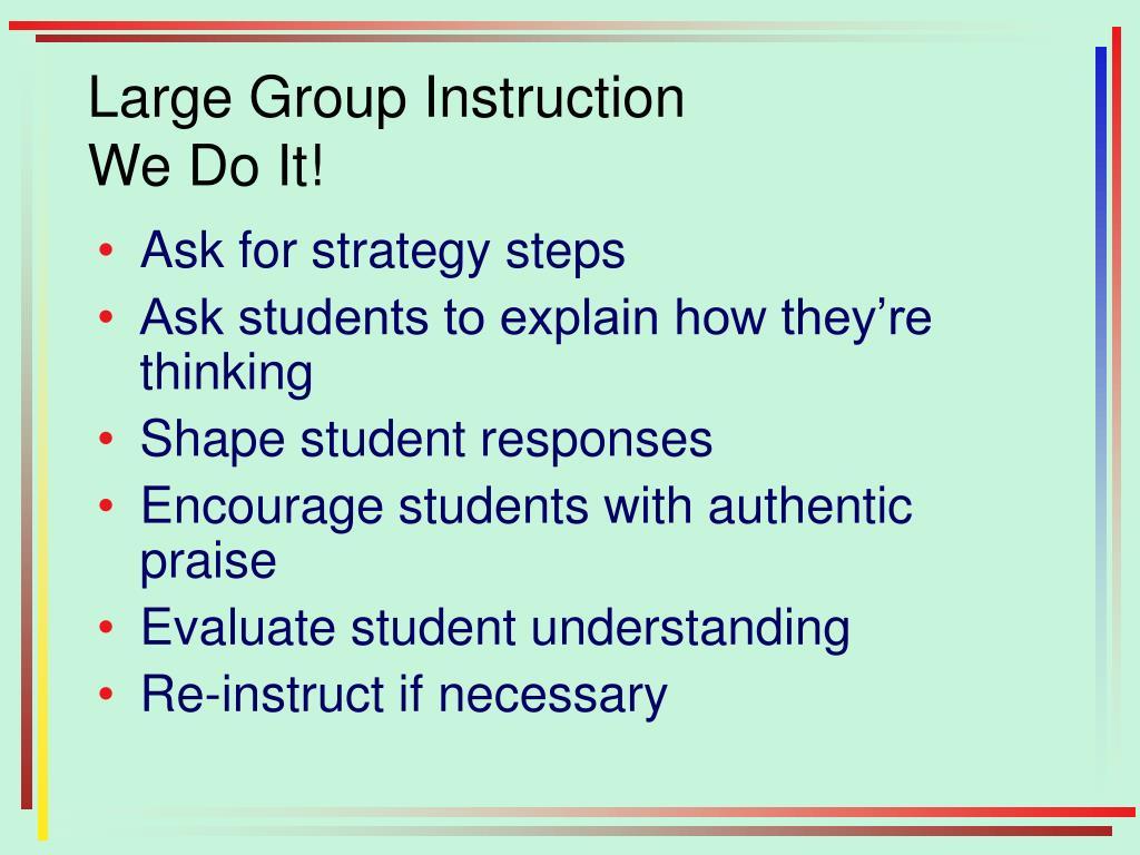 Large Group Instruction