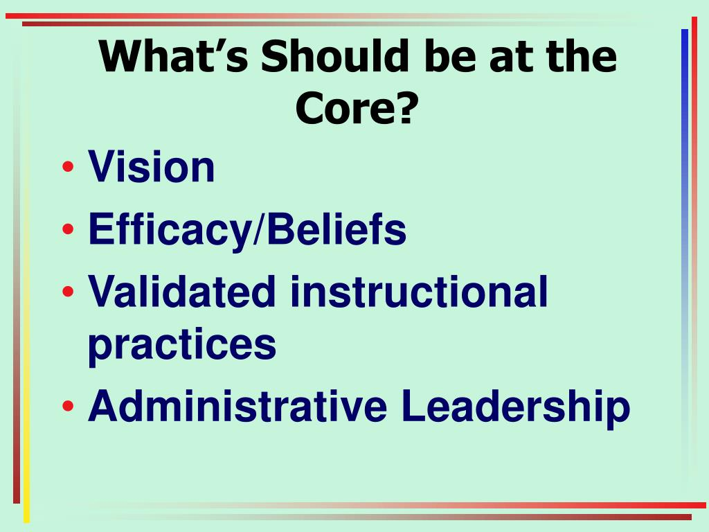 What's Should be at the Core?