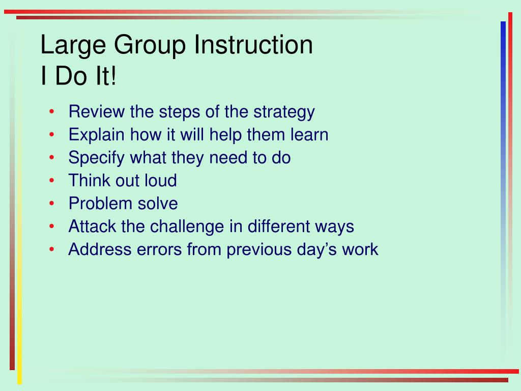 Large Group Instruction