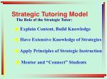 strategic tutoring model