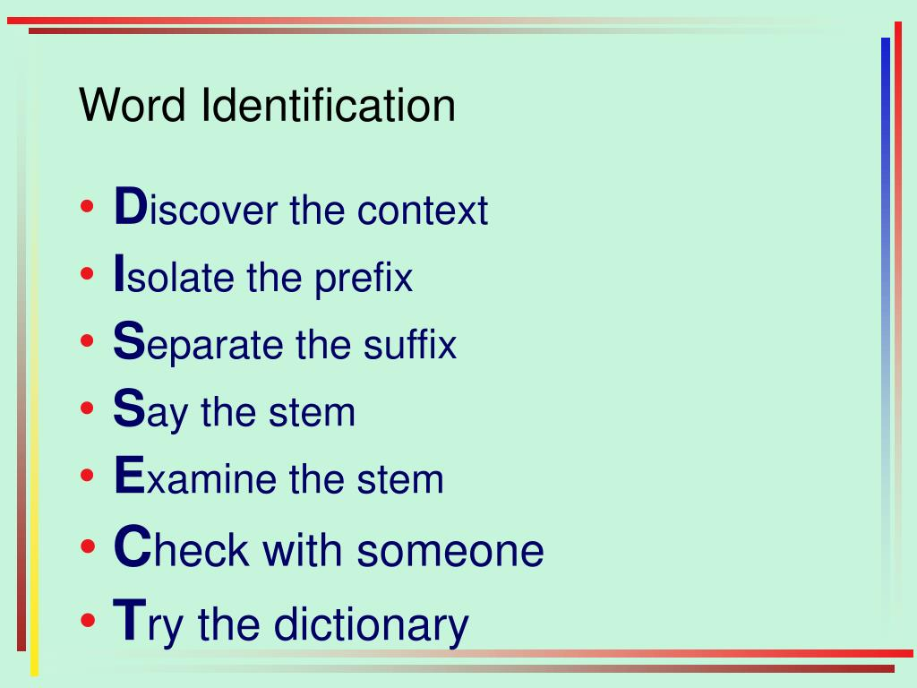 Word Identification