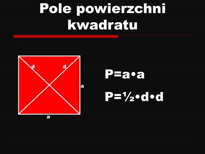 Pole powierzchni kwadratu