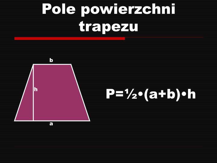 Pole powierzchni trapezu