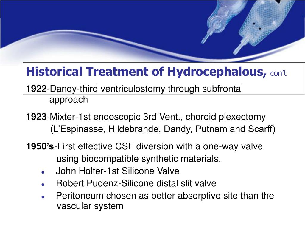 Historical Treatment of Hydrocephalous,