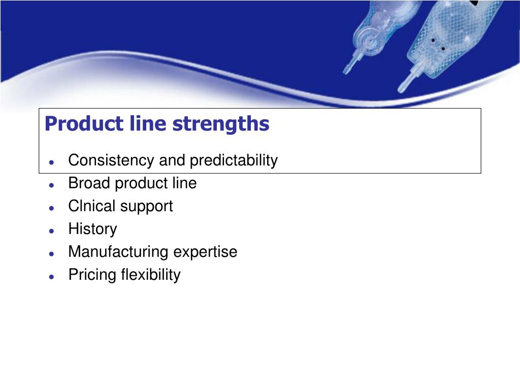 Product line strengths
