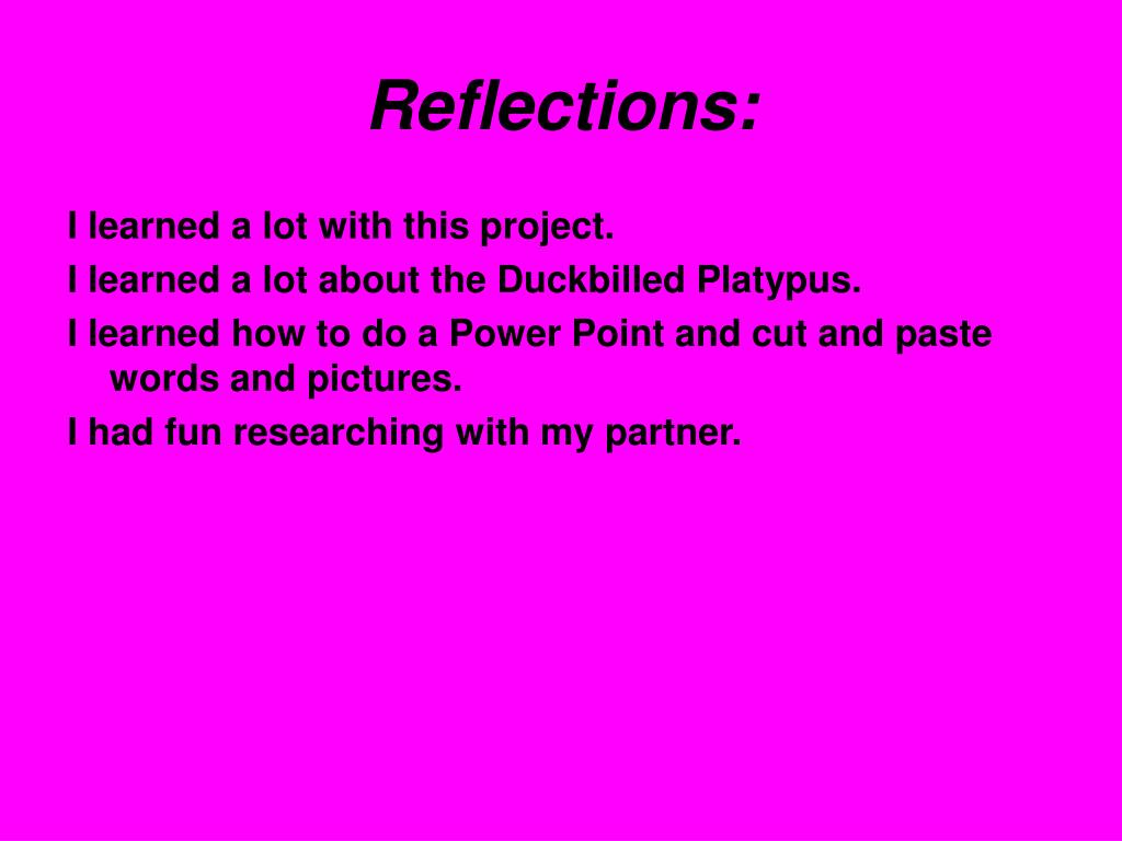 Reflections: