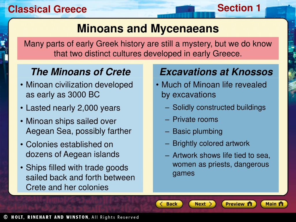The Minoans of Crete
