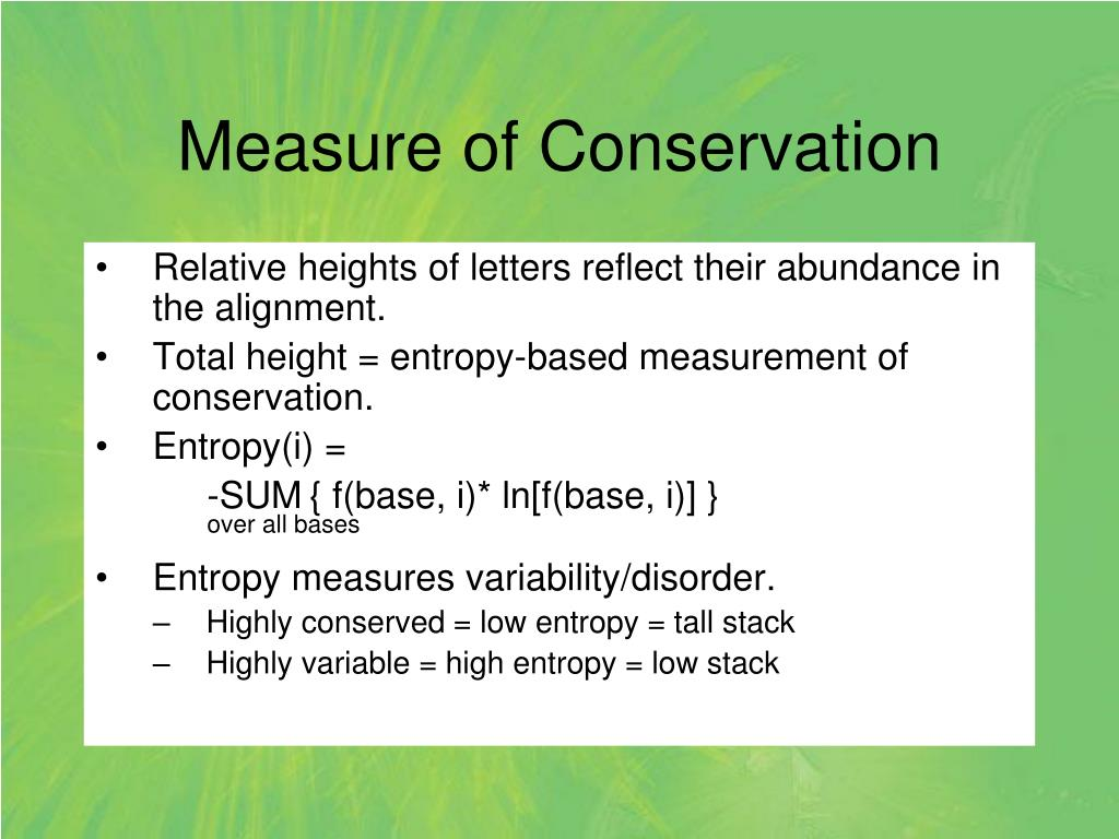 Measure of Conservation