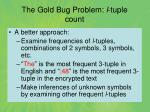 the gold bug problem l tuple count