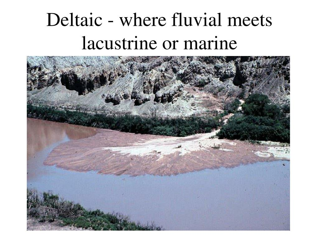 Deltaic - where fluvial meets lacustrine or marine