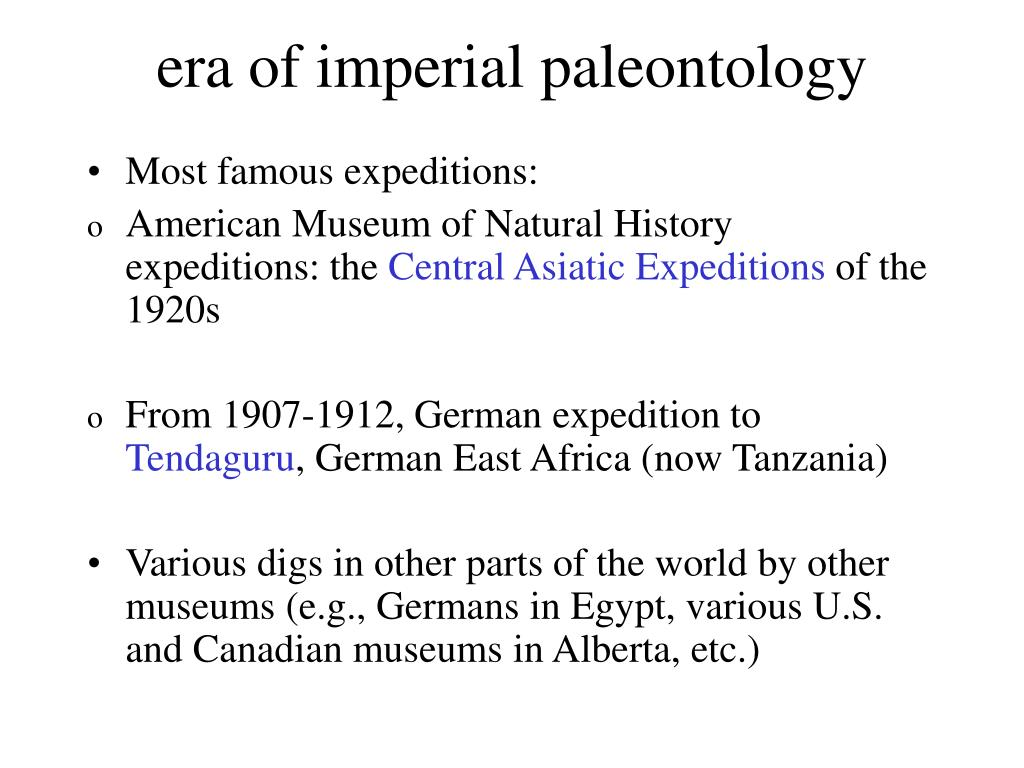 era of imperial paleontology