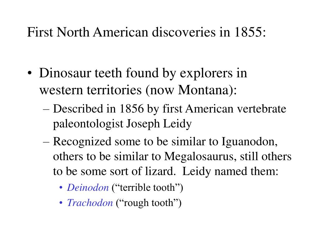 First North American discoveries in 1855: