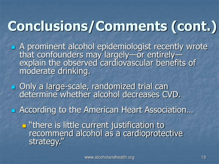 Conclusions/Comments (cont.)