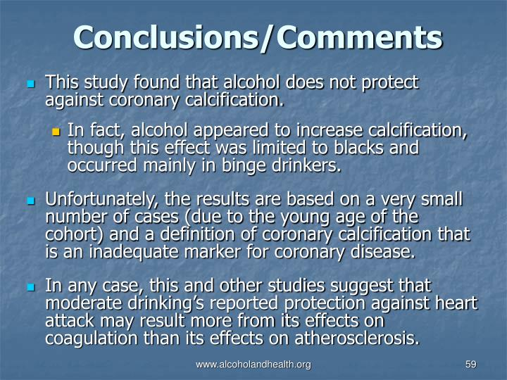 Conclusions/Comments