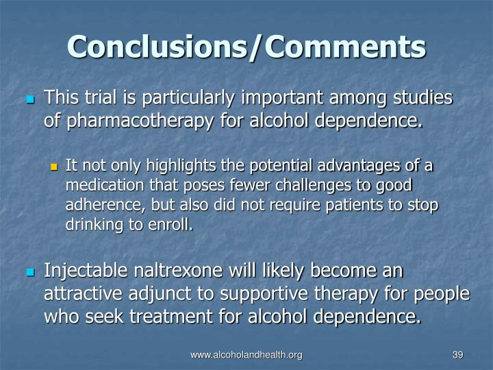 This trial is particularly important among studies of pharmacotherapy for alcohol dependence.