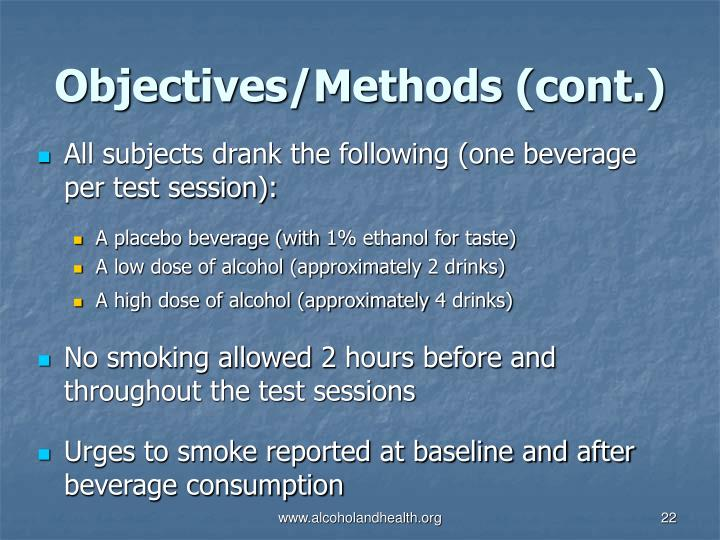 Objectives/Methods (cont.)