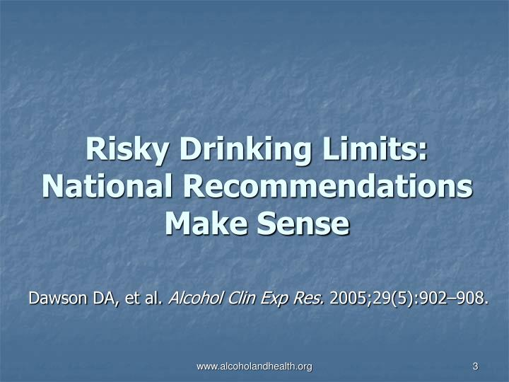 Risky drinking limits national recommendations make sense