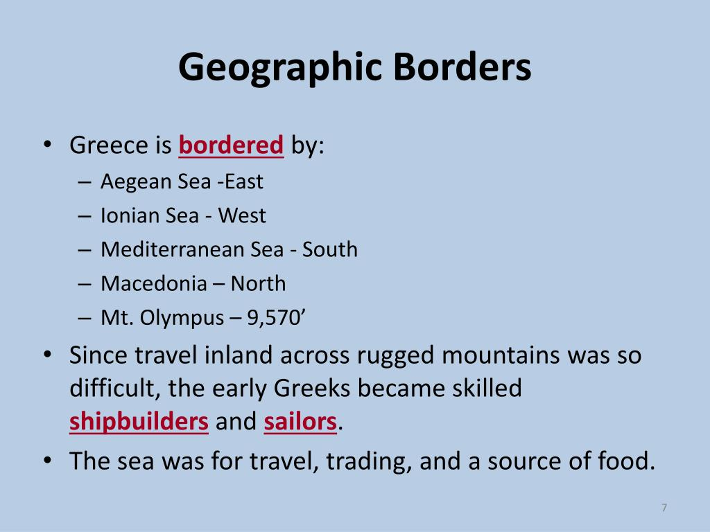 Geographic Borders