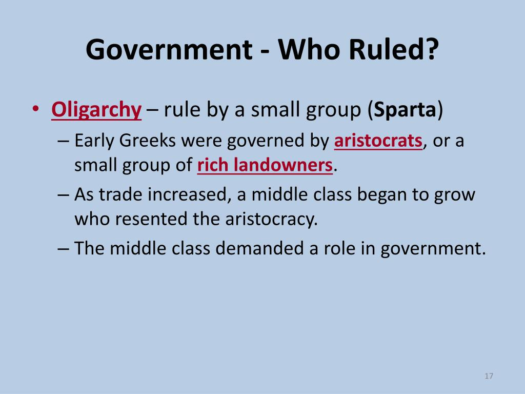 Government - Who Ruled?