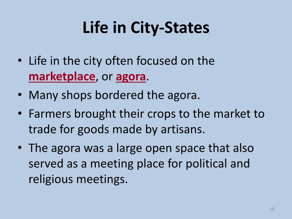 Life in City-States