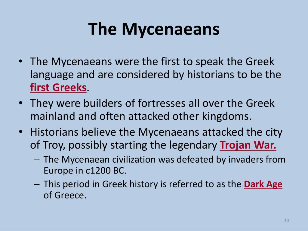 The Mycenaeans