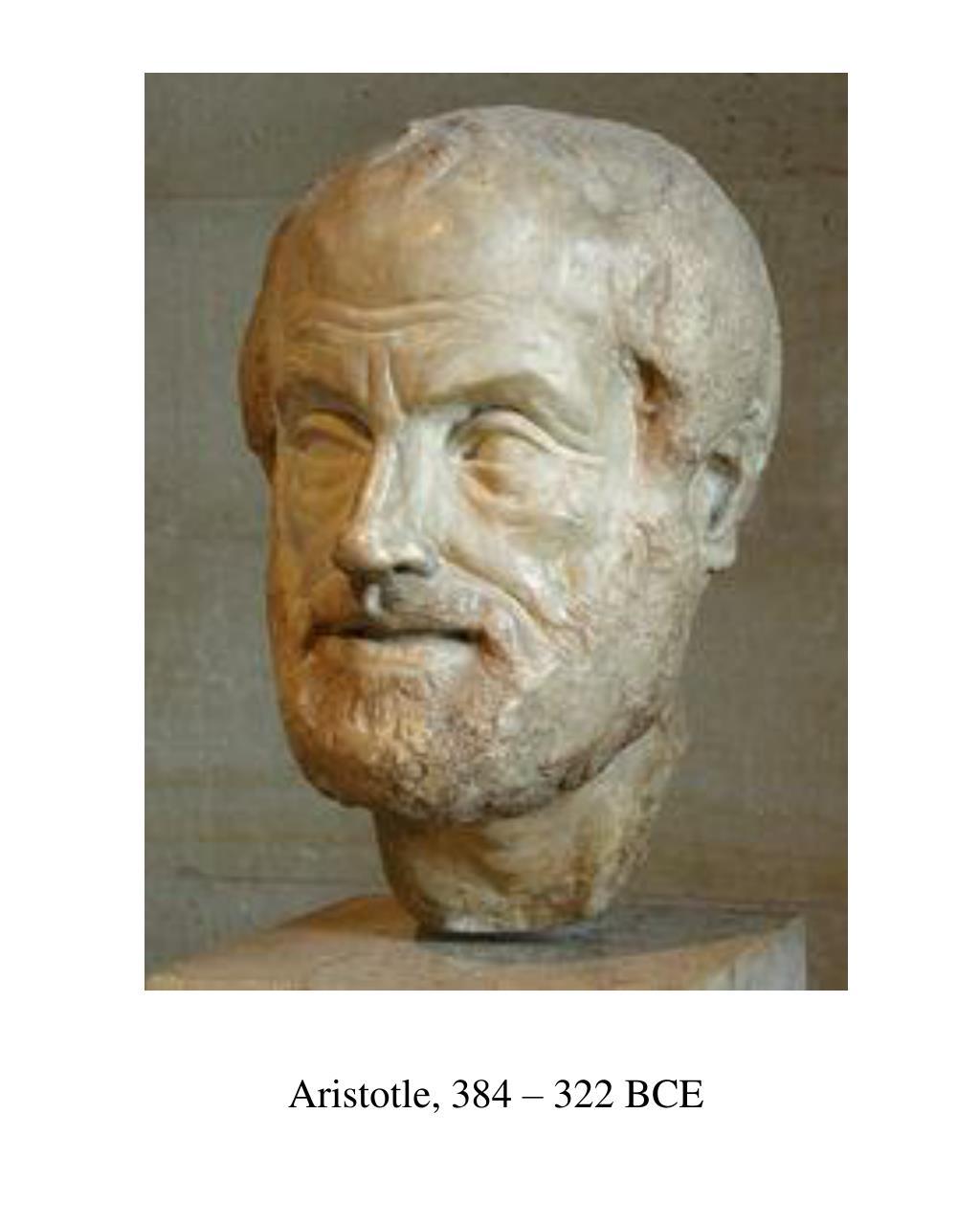 Aristotle, 384 – 322 BCE