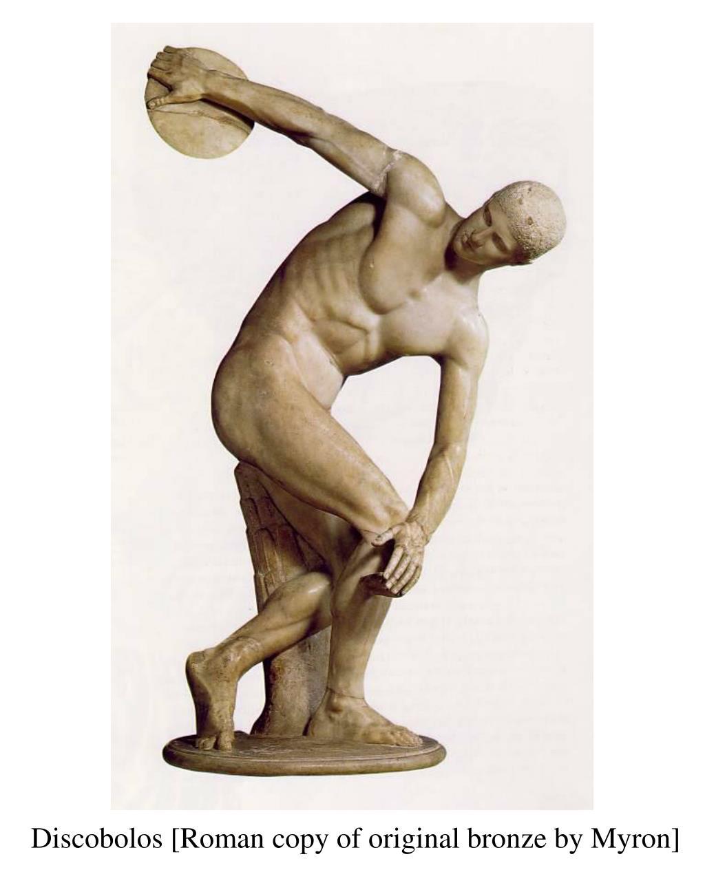 Discobolos [Roman copy of original bronze by Myron]