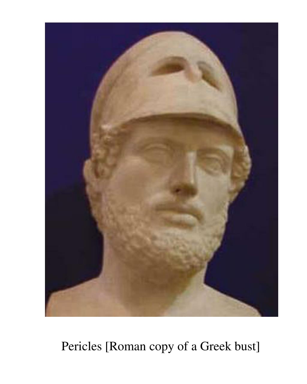 Pericles [Roman copy of a Greek bust]