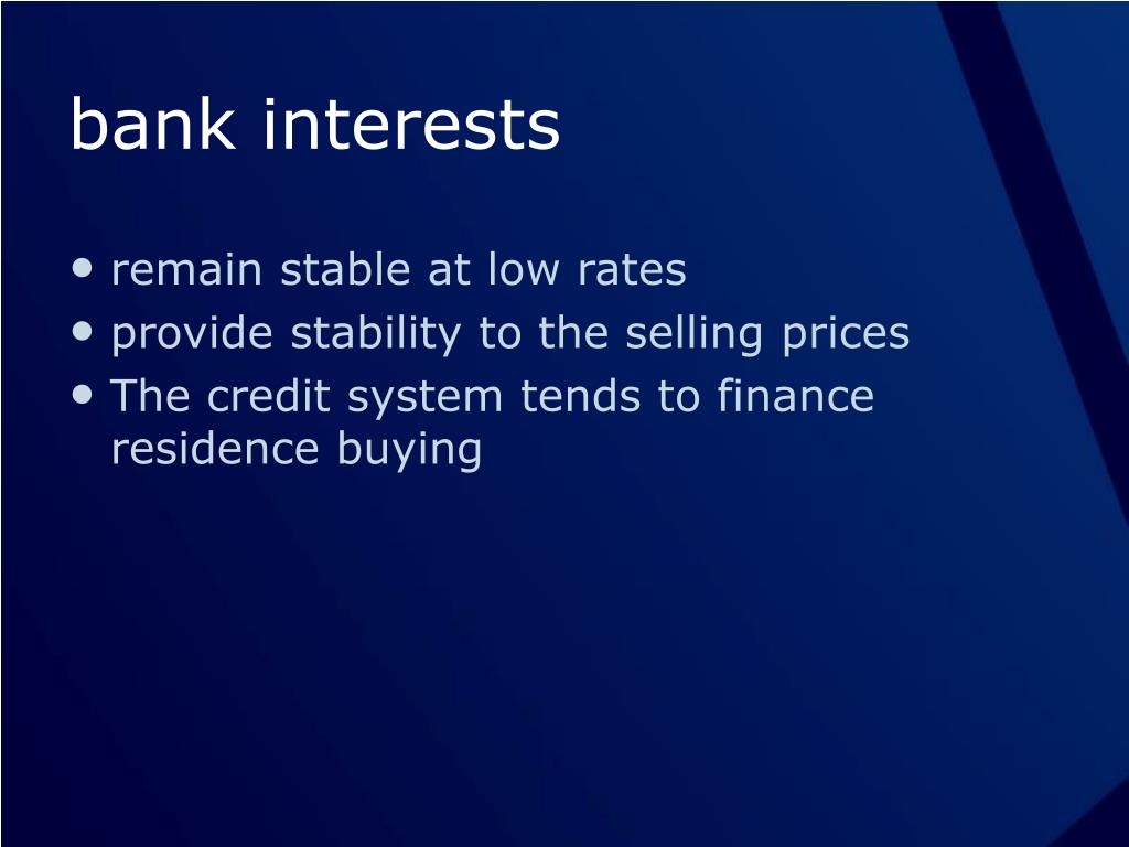 bank interests