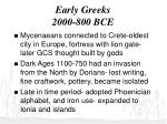 early greeks 2000 800 bce
