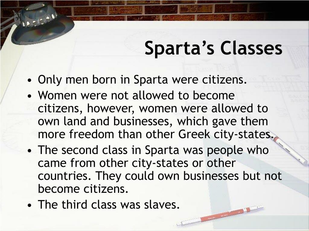 Sparta's Classes