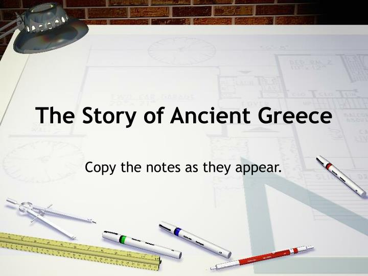 The story of ancient greece