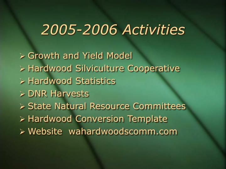 2005-2006 Activities